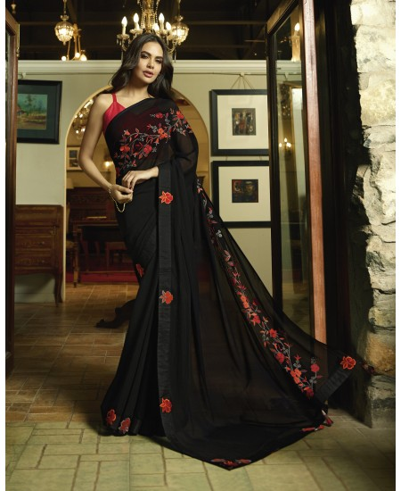 Black Fancy Saree