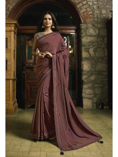 Brick Fancy Saree