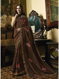 Brown Fancy Saree