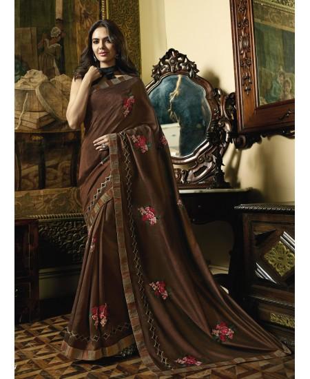 Brown Fancy Saree