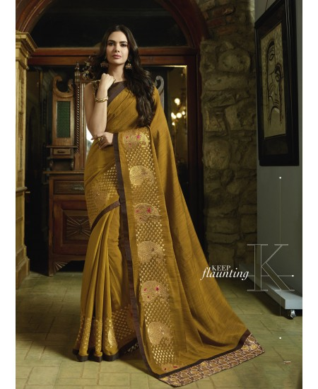 Mustard  Fancy Saree
