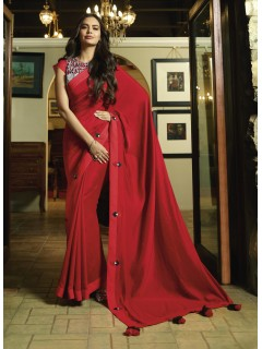 Red Fancy Saree