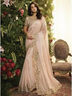 Light Pink Fancy Fabric Saree