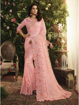 Pink Fancy Fabric Saree