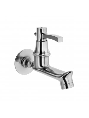 Sheetal - Antique Bib Cock Long Body Faucet With Wall Flange