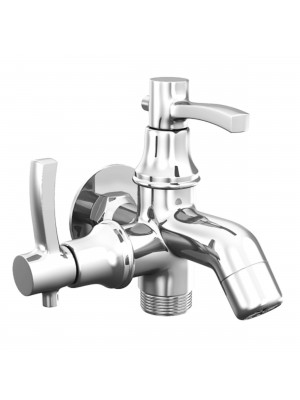 Sheetal - Antique Bib Cock 2 In 1 Faucet With Wall Flange